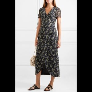 NWOT Madewell Wrap Floral Georgette Maxi Dress
